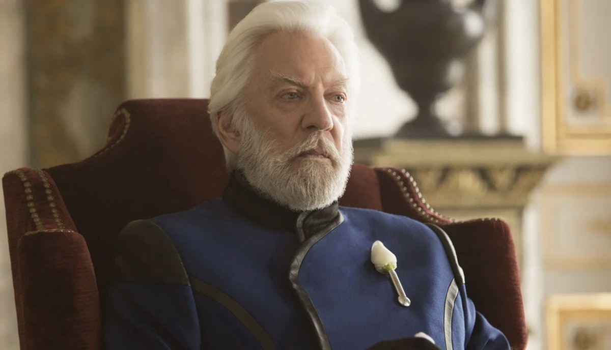 Donald Sutherland's President Snow is the protagonist of The Hunger Games Prequel