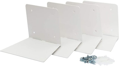 STORAGE MANIAC White Invisible Floating Bookshelves (4- Pack)