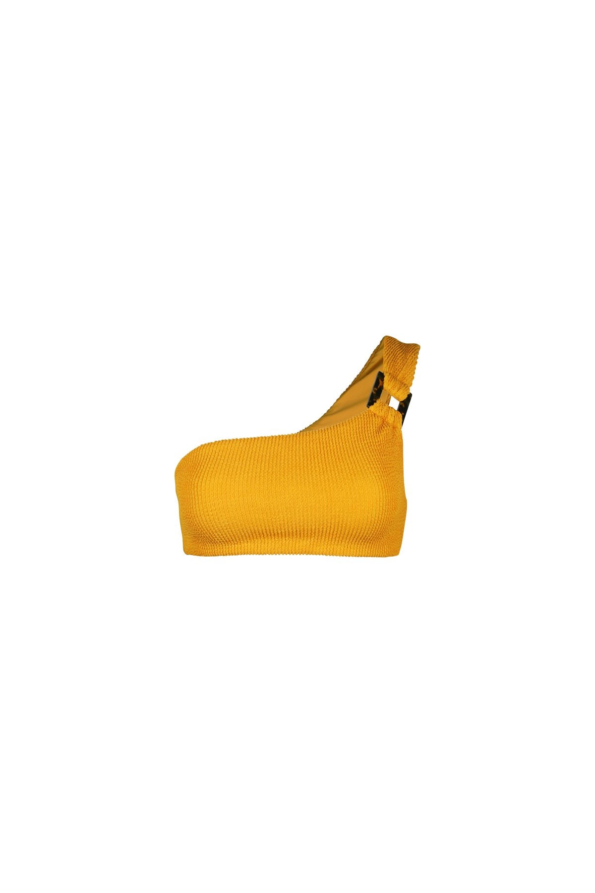 Chromat Celine Top Textured Mustard