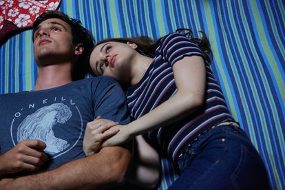 Jacob Elordi as Noah and Joey King as Elle in The Kissing Booth 3. Courtesy of Marcos Cruz/Netflix.