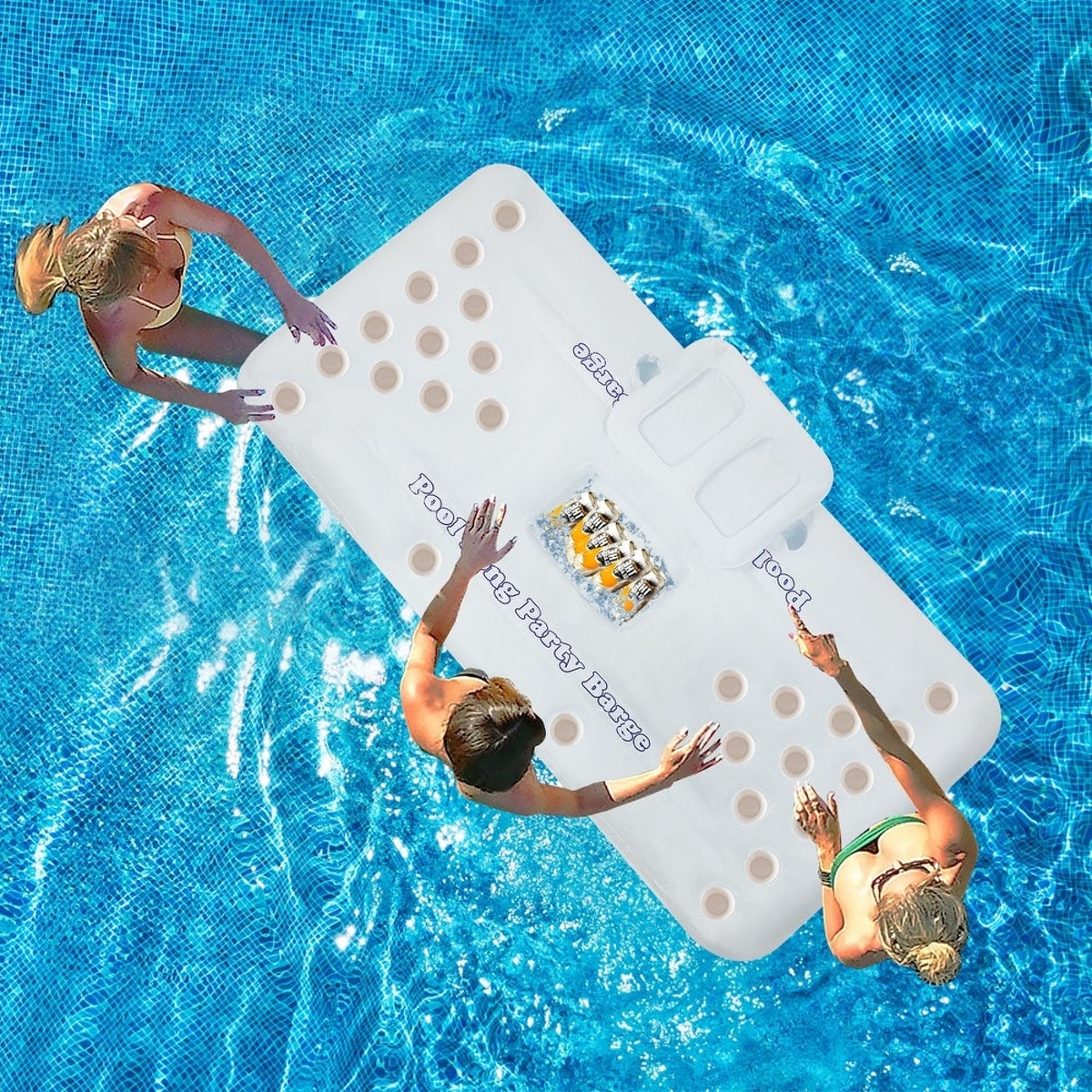 """71""""-Inflatable Floating Drink Holder with 28 Holes"""