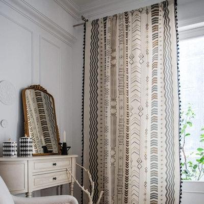 BBSET Boho Window Curtain Panel