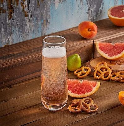 JoyJolt Milo Stemless Champagne Flutes (Set of 8)