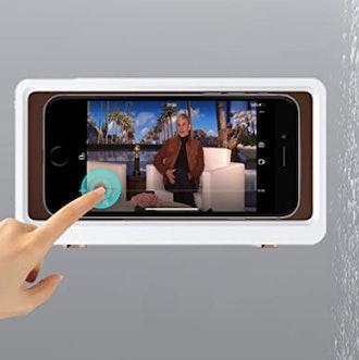 KUNSLUCK Waterproof Anti-Fog Touch Screen Shower Phone Holder