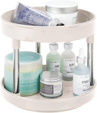 mDesign Spinning 2-Tier Lazy Susan