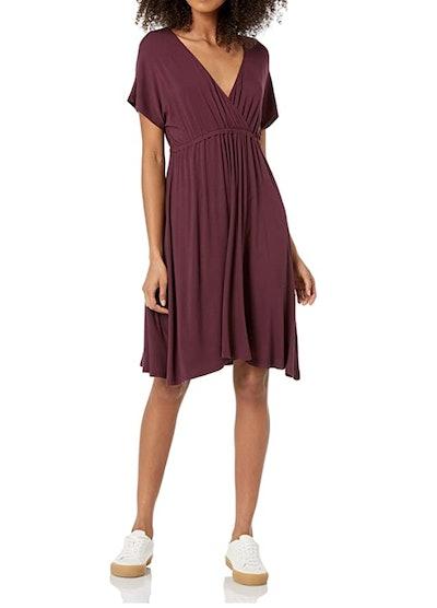 Amazon Essentials Solid Surplice Dress