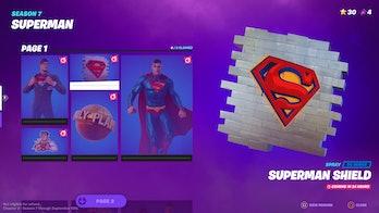 fortnite superman cosmetics