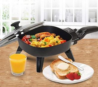 Elite Gourmet Maxi-Matic Personal Stir Fry Griddle Pan