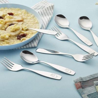 ANNOVA Kids Silverware Children's Safe Flatware Set For LunchBox (6 Pieces)