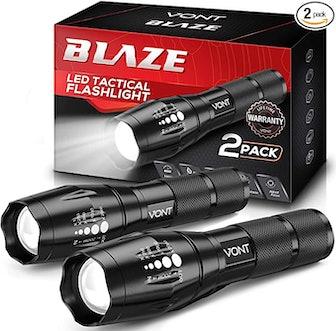 Vont 'Blaze' Tactical Flashlight (2-Pack)
