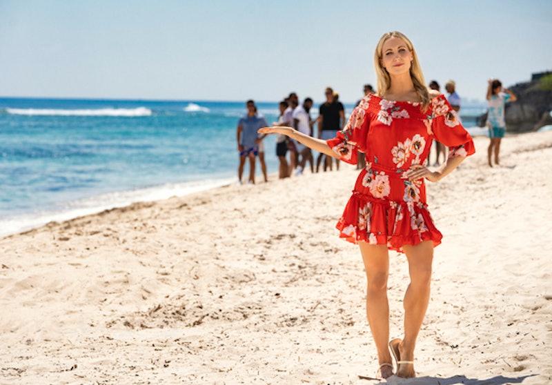 'FBoy Island' host Nikki Glaser on the island.