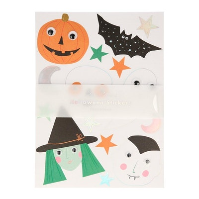 Halloween stickers with googly eyes
