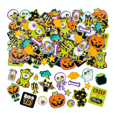 a set of 300 Halloween stickers from Oriental Trading