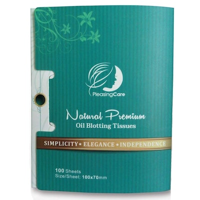Natural Bamboo Charcoal Oil Absorbing Tissues (100-Count)