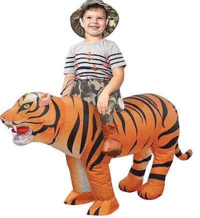Child in a tiger wrangler costume