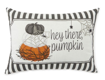 """This """"Hey There Pumpkin"""" throw pillow is one Halloween decor item available at Big Lots."""