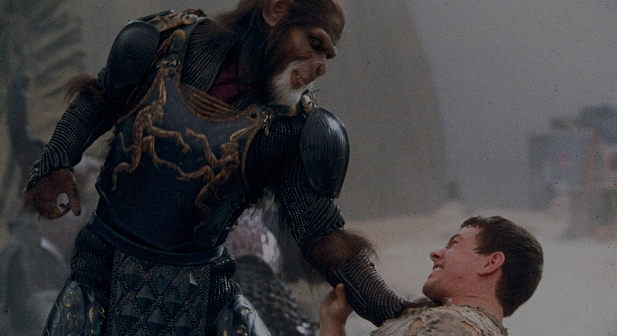 screenshot of Mark Wahlberg in Planet of the Apes 2001