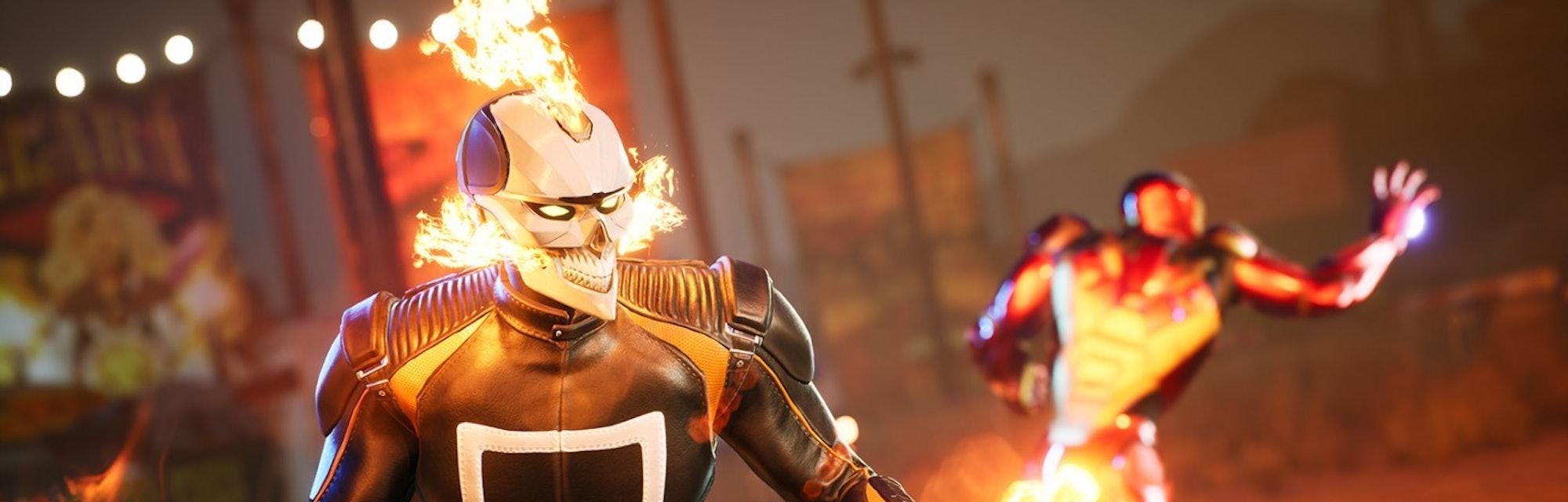 marvel's midnight suns ghost rider iron man