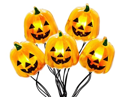 This pumpkin LED micro light set is part of the 2021 Big Lots Halloween store selection.