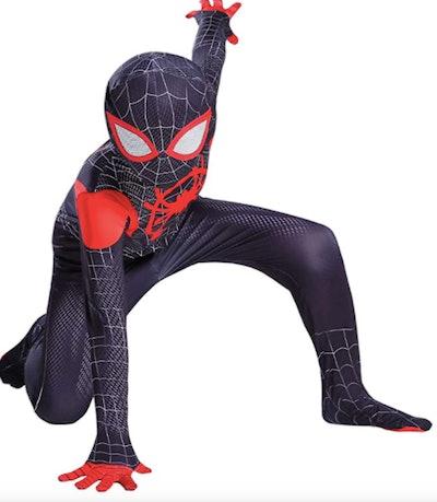 Child wearing a Spider-Man costume
