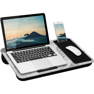 LapGear Lap Desk with Device Ledge, Mouse Pad, and Phone Holder
