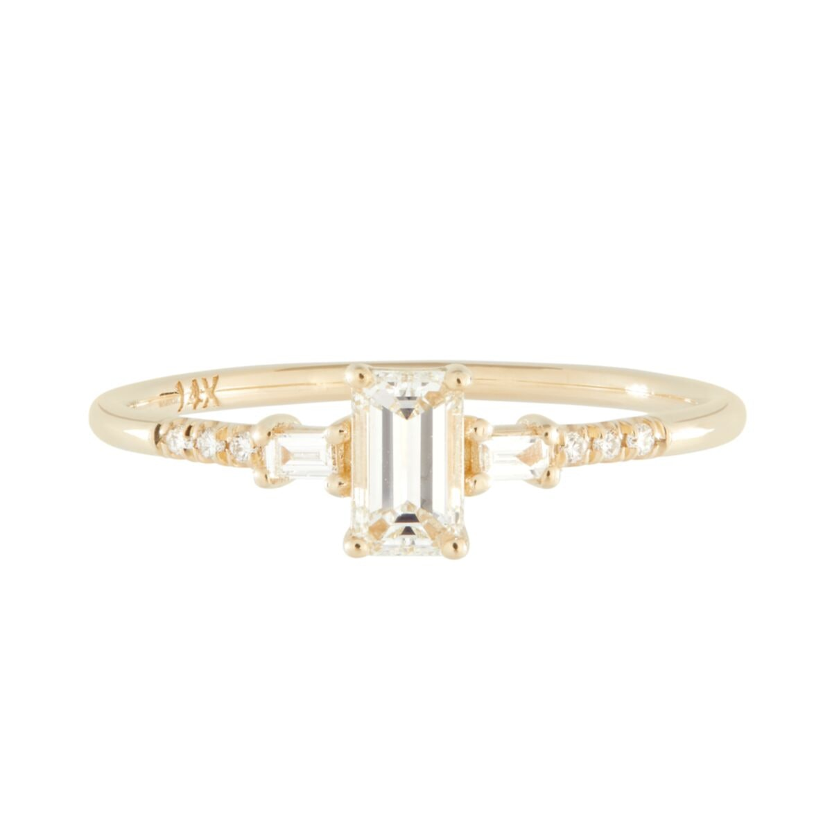 Jennie Kwon Melody ring in 14K yellow gold, available to shop via Catbird.