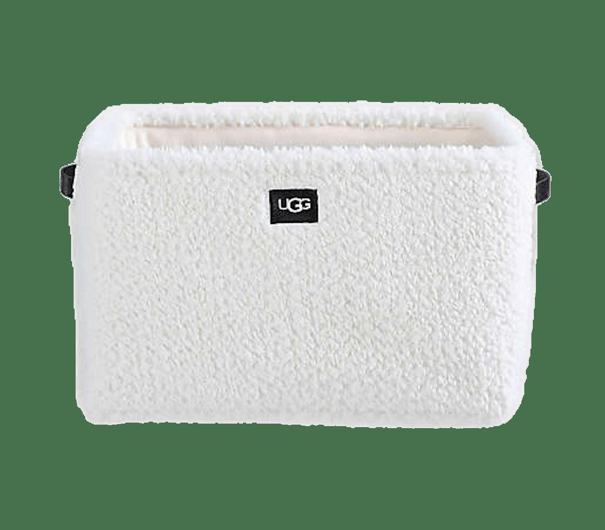 UGG Pitkin Faux Fur Storage Bin in Snow