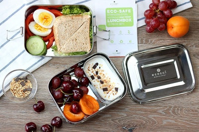 ecozoi Stainless Steel 3-In-1 Bento Lunch Box