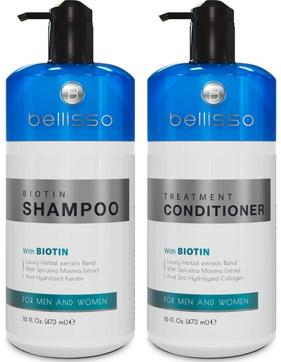 BELLISSO Biotin Shampoo and Conditioner Set for Hair Growth