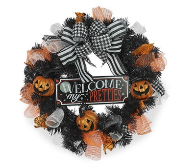 This pumpkin wreath is just one Halloween item available at Big Lots stores.