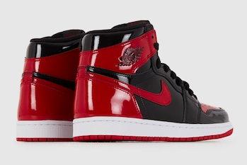 Nike Air Jordan 1 patent bred sneaker