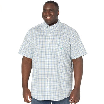 Nautica Big & Tall Plaid Oxford Shirt
