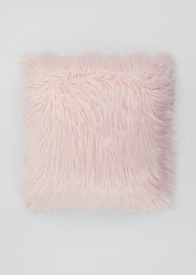 Large Mongolian Faux Fur Cushion