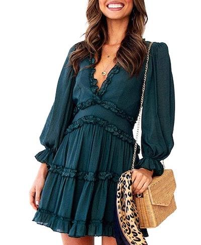 Eytino Open Back Mini Dress