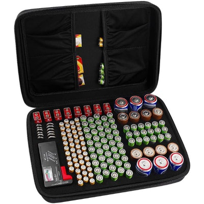 COMECASE Hard Battery Organizer Storage Box