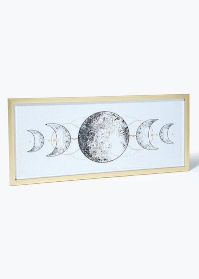 Moon Phases Framed Wall Art