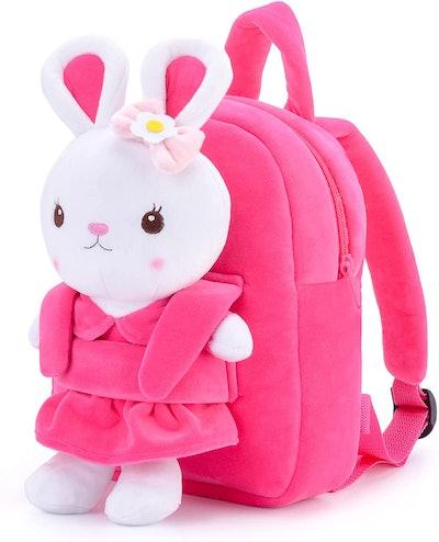 Glovelaya Kids Backpack With Stuffed Bunny Toy