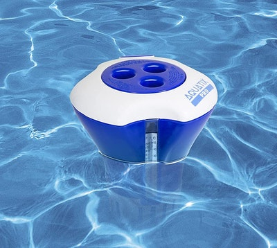 Aquatix Pro Large Pool Chemical Dispenser With Thermometer