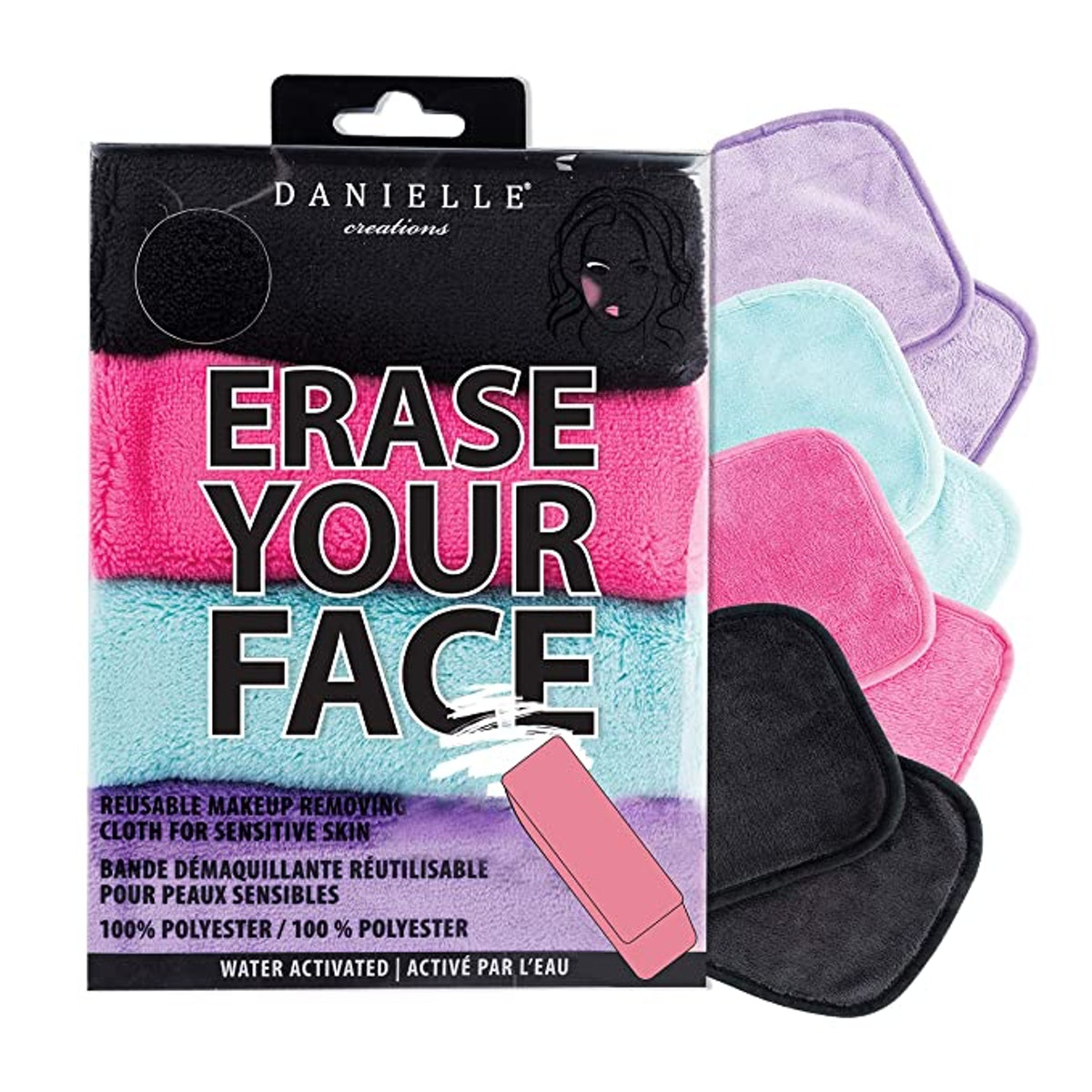 Erase Your Face Make-Up Removing Cloths (4-Pack)