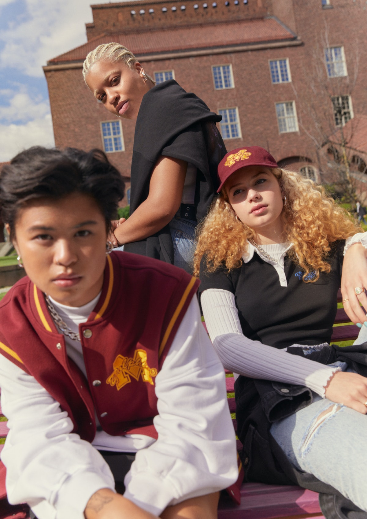 Campaign images from H&M x Netflix's 'Sex Education' Collection