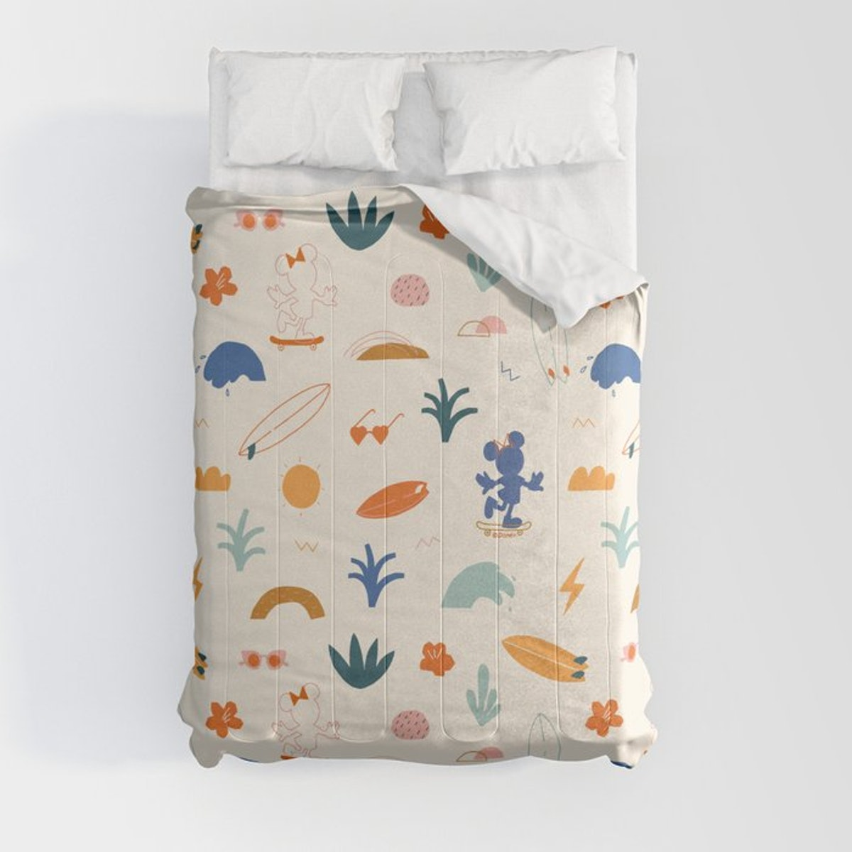 The Society6 x Disney Minnie Mouse Collection features adorable comforters.