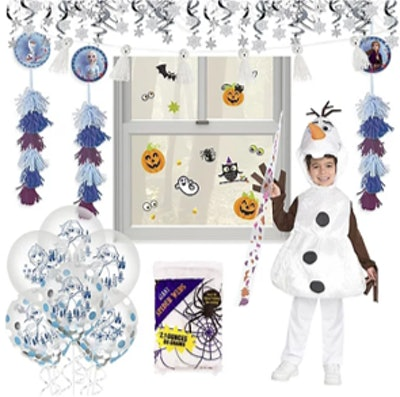 Disney Frozen 2 Halloween Car Parade Kit With Olaf Costume For Kids