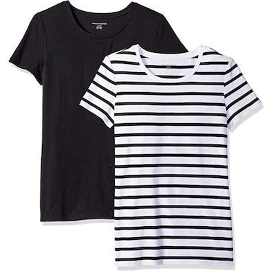 Amazon Essentials Classic-Fit Crewneck T-Shirt (2 Pack)