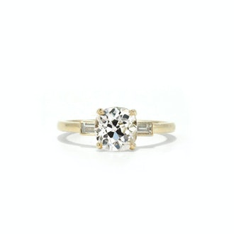 1.45 Carat Lynn antique old mine cut engagement ring from Ashley Zhang.