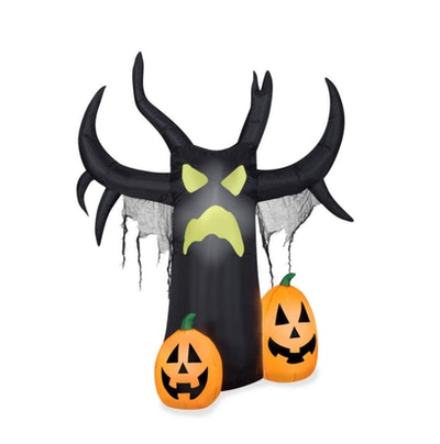This airblown inflatable tree with jack o'lanterns is available from Big Lots this Halloween.