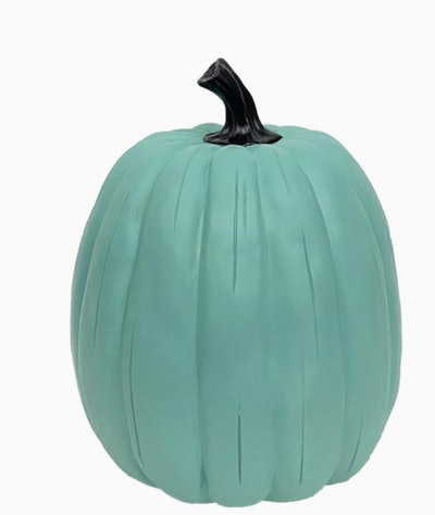 Holiday Living 13-in teal Pumpkin Sculpture