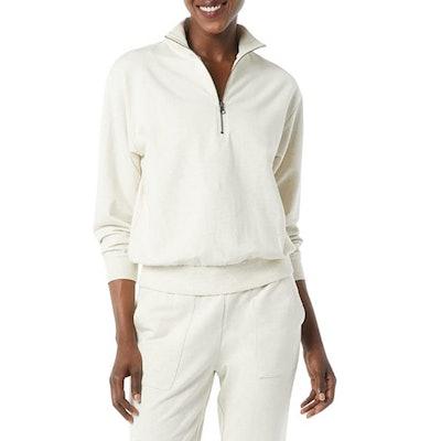 Daily Ritual Terry Cotton & Modal Quarter-Zip Sweatshirt