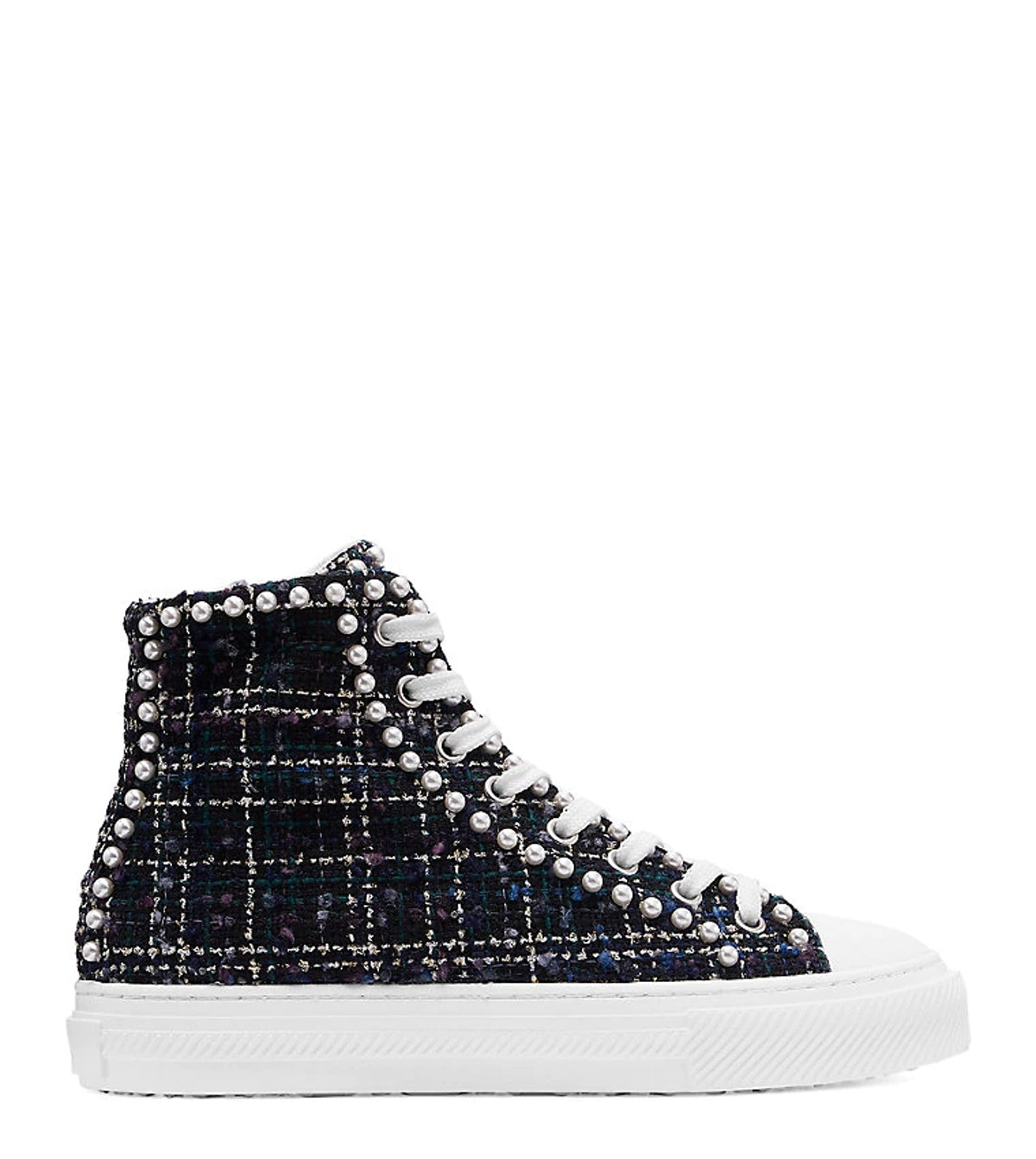 Stuart Weitzman Ollie Mini Pearl High-Top Sneaker