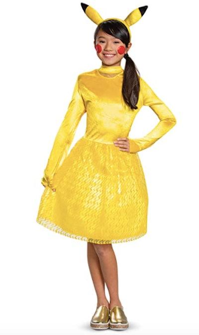 Girl wearing a Pikachu costume