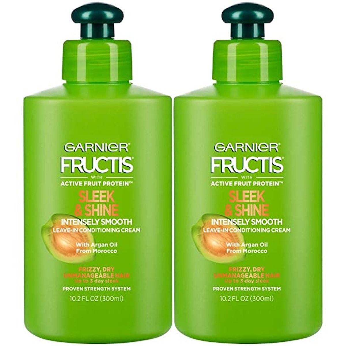 Garnier Fructis Sleek & Shine Leave-In Conditioning Cream (2-Pack)